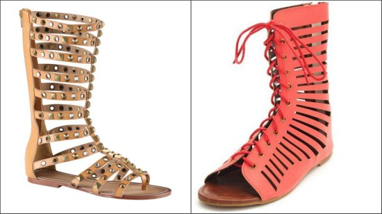 Gladiator Games} | Cute gladiator heels, flats. and wedges!