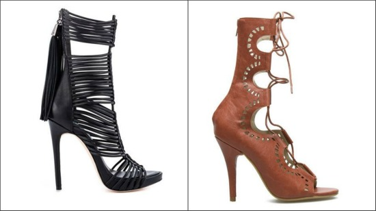 Gladiator Games} | Cute gladiator heels flats. and wedges!