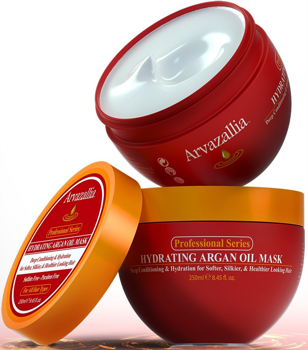 {Arvazallia Hair Mask and Argan Oil}