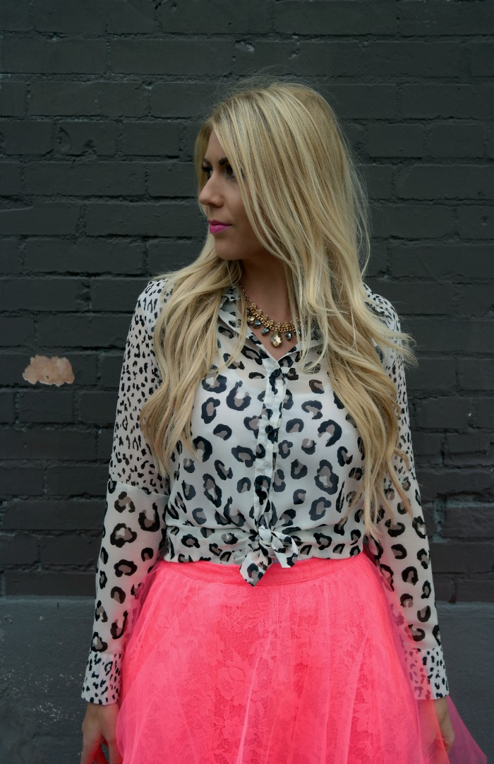 Hot Pink Tulle Lace Skirt From The Girl That Loves