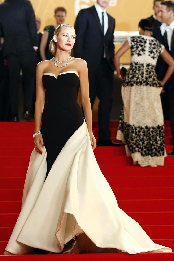 Blake livey red carpet and street style - Black and white red carpet dresses ...