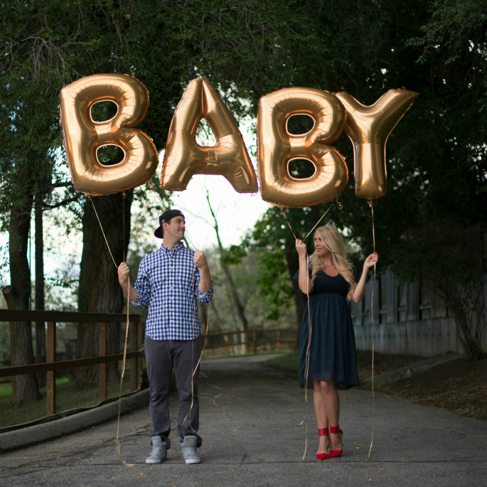 baby announcement, gold letter balloons, giant letter balloons, gold foil balloons, gold mylar ballooons, jumbo letter balloons, etsy letter balloons, baby letters, gold baby letters, foil jumbo balloons