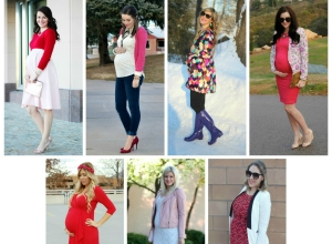 {Valentine's Day Maternity Style}