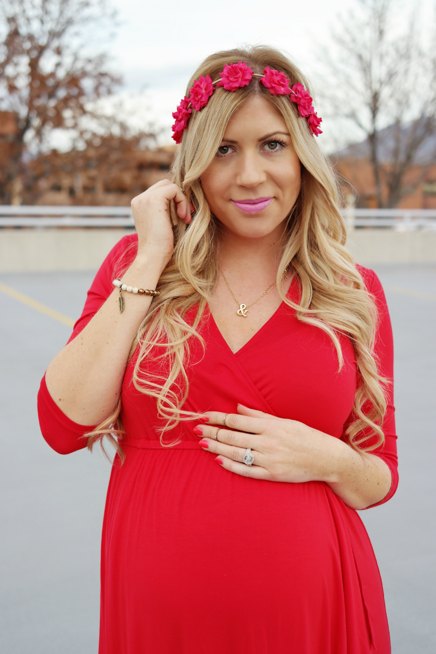 Valentines day maternity style red maternity dress valentines day dress red dress pregnancy style maternity style ombrellifo Images