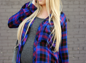 {Pregnant In Plaid}