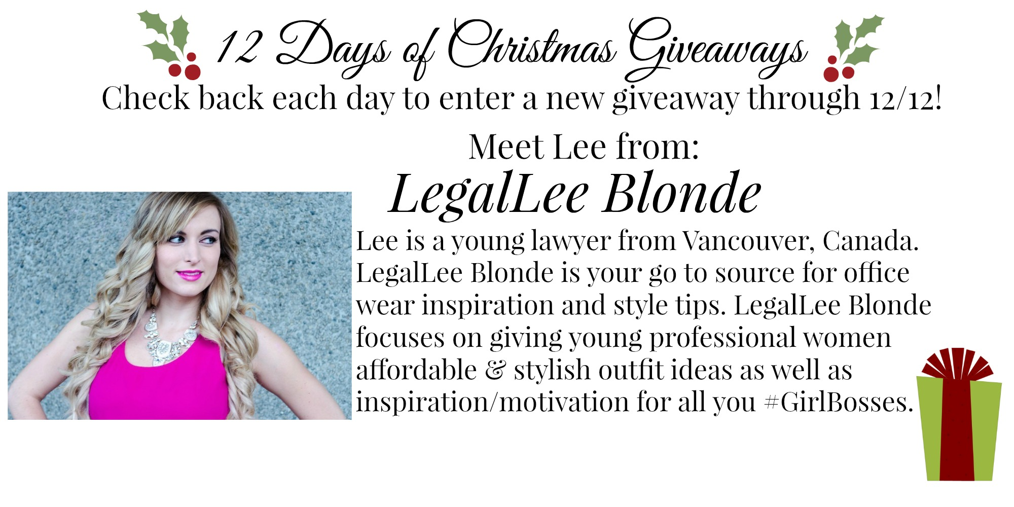 {12 Days of Christmas Giveaways} | Days 8, 9 & 10
