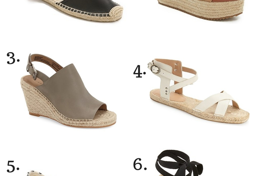 {6 Espadrille Sandals You Need}