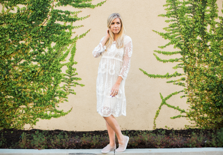 {White Lace Dress}