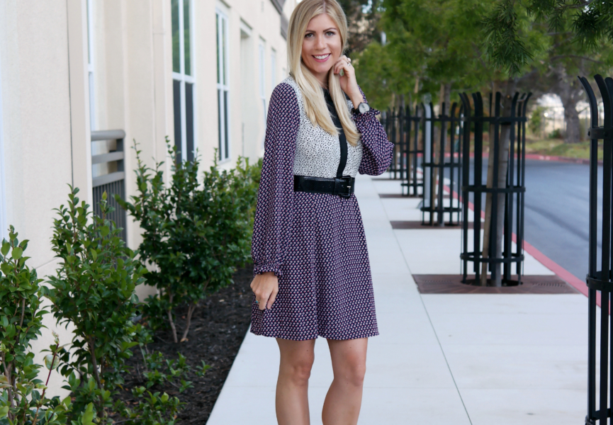 {Mixed Print Dress}