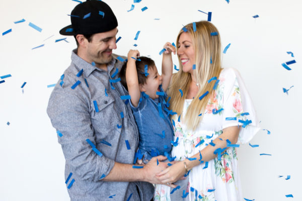 {Baby #2 Confetti Gender Reveal}