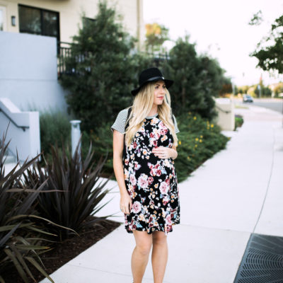floral maternity dress